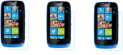 ACM Tempered Glass Guard for Nokia Lumia 610(Pack of 3)