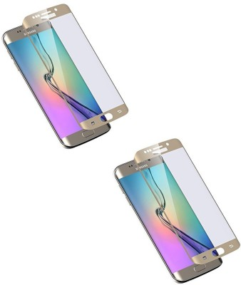 MudShi Tempered Glass Guard for Samsung Galaxy S6 Edge Golden Color(Pack of 2)