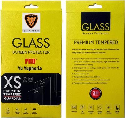 PIKWAY Tempered Glass Guard for YU Yuphoria YU5010 at flipkart