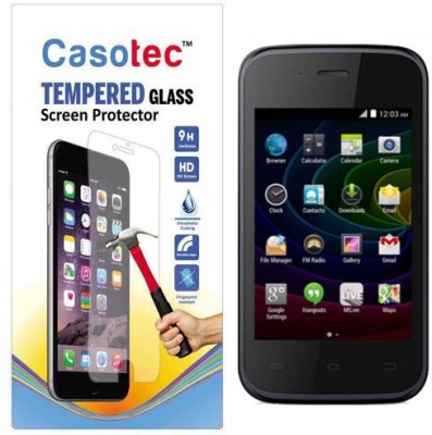 Casotec Tempered Glass Guard for Micromax Bolt D200(Pack of 1)