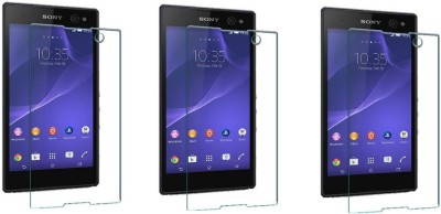 ACM Tempered Glass Guard for Sony Xperia C3 (Pack of 3)(Pack of 3)