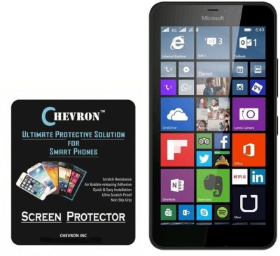 Chevron Tempered Glass Guard for Microsoft Lumia 640(Pack of 2)