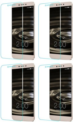 Clunker Tempered Glass Guard for Tempered Glass Guard for LeEco Le 2 Pro (Tempered Glass)(Pack of 4)