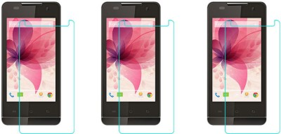 CHAMBU Tempered Glass Guard for LAVA IRIS 400 COLOURS(Pack of 2)