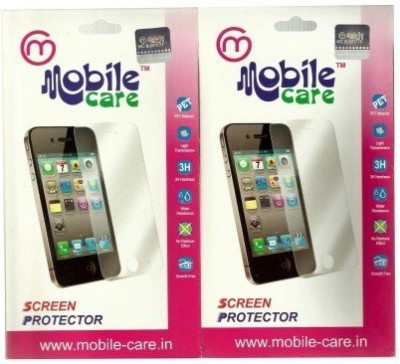 Mobile Care Tempered Glass Guard for Apple iPhone 4s(Pack of 2)