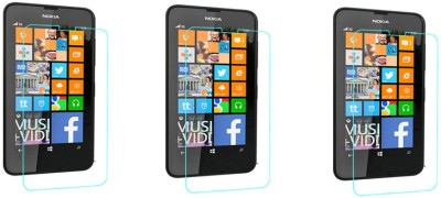 ACM Tempered Glass Guard for Nokia Lumia 630 (Pack of 3)(Pack of 3)