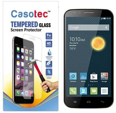 Casotec Tempered Glass Guard for Alcatel Onetouch Flash(Pack of 1)
