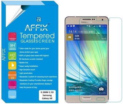 "Affix Tempered Glass Guard for Samsung Galaxy A8 (5.7"" Inch Display)"