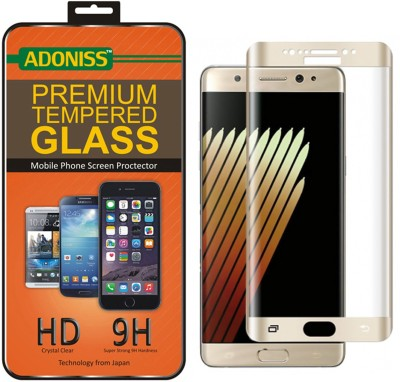 Adoniss Tempered Glass Guard for samsung note 7 gold(Pack of 1)
