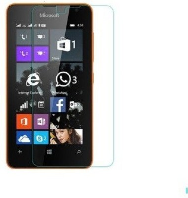 MOBIVIILE Tempered Glass Guard for Microsoft Lumia 430 Dual SIM(Pack of 1)