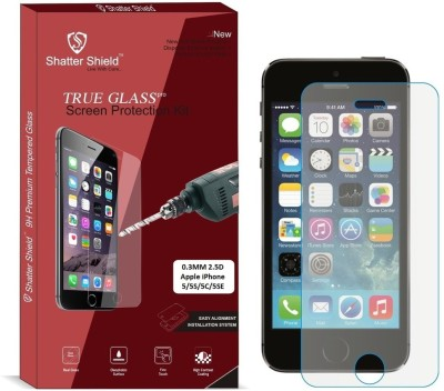Shatter Shield Tempered Glass Guard for Apple iPhone 5 / Apple iPhone 5S / Apple iPhone 5C / Apple iPhone 5SE (4.0 Inch Display)(Pack of 1)