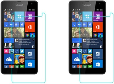 ACM Tempered Glass Guard for Microsoft Lumia 535 Dual Sim(Pack of 3)