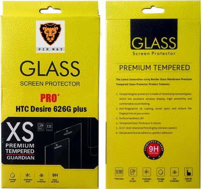 H.K.Impex Tempered Glass Guard for HTC 626G Plus,htc desire 626g plus tempered glass in mobile screen guard (full display cover glass).(Pack of 1)