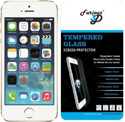 Furious3D Tempered Glass Guard for Apple iPhone 5s(Pack of 1)
