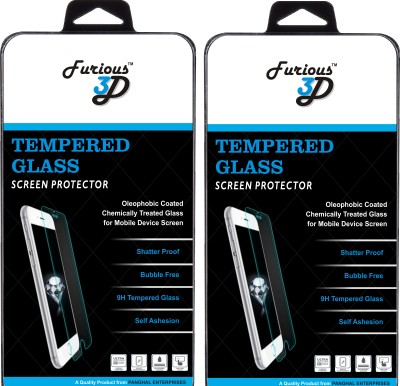 Furious3D Tempered Glass Guard for Apple iPhone 5s(Pack of 2)