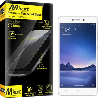 Mkart Tempered Glass Guard for Mi Redmi 3S Prime(Pack of 1)