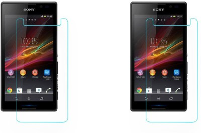 ACM Tempered Glass Guard for Sony Xperia C(Pack of 2)
