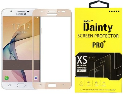 Dainty Tempered Glass Guard for Samsung Galaxy J7 Prime (5.5 inch, Gold) (Full Screen Coverage)
