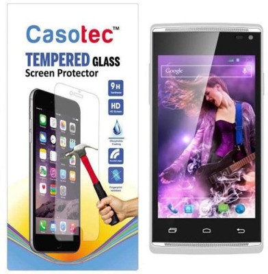Casotec Tempered Glass Guard for XOLO A500 Club(Pack of 1)