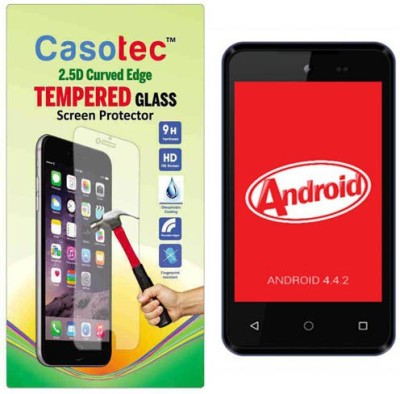Casotec Tempered Glass Guard for Micromax Bolt D303(Pack of 1)