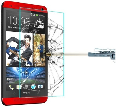 Heartly Tempered Glass Guard for HTC One M7 Single Sim 801e(Pack of 1)