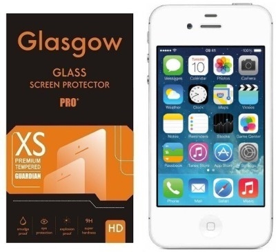 Glasgow Tempered Glass Guard for Apple iPhone 4(Pack of 1)