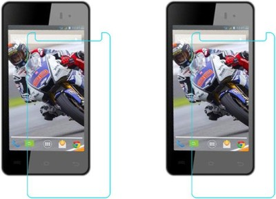 ACM Tempered Glass Guard for Lava Iris 406q(Pack of 2)