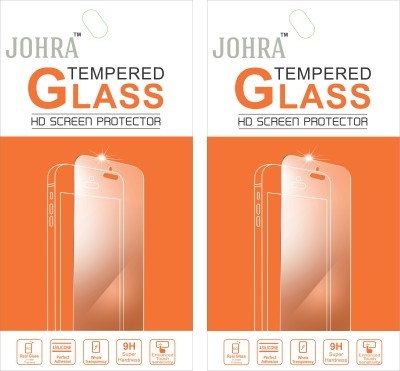 Johra Tempered Glass Guard for Micromax Canvas Juice A177(Pack of 2)