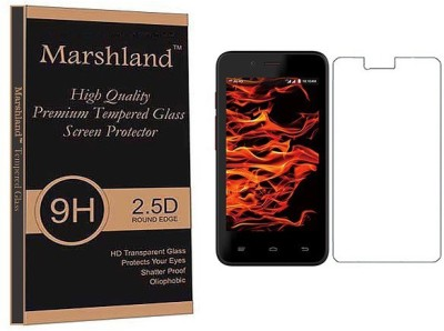 Marshland Tempered Glass Guard for Reliance Jio LYF Flame 4 Pack of 1 Marshland Screen Guards
