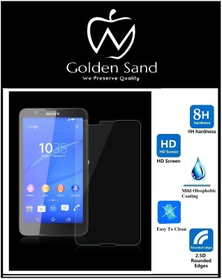 Golden Sand Tempered Glass Guard for Sony Xperia E4(Pack of 3)