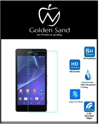 Golden Sand Tempered Glass Guard for Sony Xperia M2(Pack of 3)
