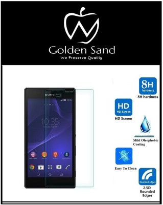 Golden Sand Tempered Glass Guard for Sony Xperia T3(Pack of 3)