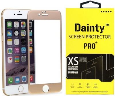 Dainty Tempered Glass Guard for Apple Iphone 6 (4.7 inch, Gold) (Full Glass)