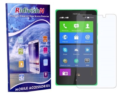 RidivishN Tempered Glass Guard for Nokia Lumia 520(Pack of 1)
