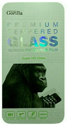 BLACK GORILLA Tempered Glass Guard for Micromax Canvas Fire A104