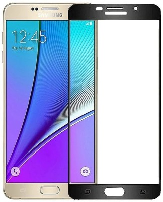 Nahvi Tempered Glass Guard for Samsung galaxy A7 (2016) Full Screen Tempered Glass Edge to Edge Coverage Screen Protector Glass - Black
