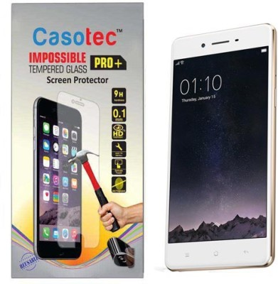 Casotec Tempered Glass Guard for Oppo F1(Pack of 1)