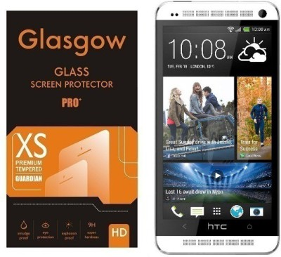 Glasgow Tempered Glass Guard for HTC One M7(Pack of 1)