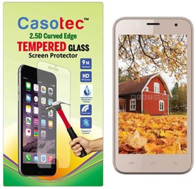 Casotec Tempered Glass Guard for Intex Aqua Y4(Pack of 1)