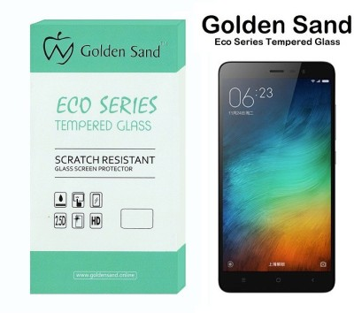 Golden Sand Tempered Glass Guard for Mi Redmi Note 3(Pack of 2)