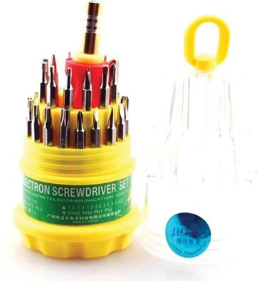 Jackly Global Jackly 31-In-1 Screw Driver Magnetic Multifunction Toolkit Standard screwdriver Set(Pack of 31)  available at flipkart for Rs.119
