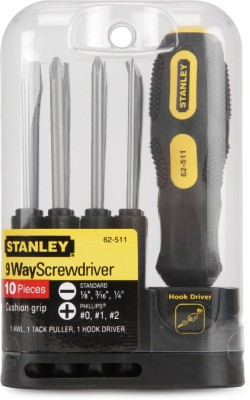 2 off on stanley combination screwdriver set pack of 10 on flipkart. Black Bedroom Furniture Sets. Home Design Ideas