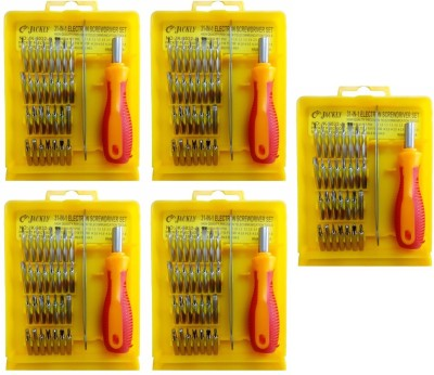 Jackly 6032-A 32 in 1-5Pcs Combination Screwdriver Set(Pack of 5)  available at flipkart for Rs.799