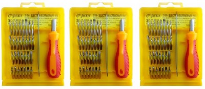 Jackly 6032-A 32 in 1-3Pcs Combination Screwdriver Set(Pack of 3)  available at flipkart for Rs.399