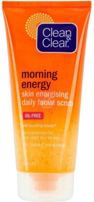 Clean & Clear Morning Energy Skin Energising Oil-Free With Bursting Beads Scrub - 150ml