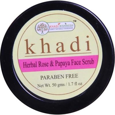 Khadi Rishikesh Herbal Rose & Papaya Face Scrub - 50 g