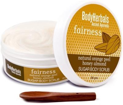 BodyHerbals Fairness, Orange Peel Honey Almond Sugar Body  Scrub(200 g) Flipkart