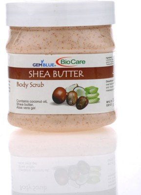 Gemblue Biocare Shea Butter Body Scrub with Shea butter, coconut oil & Aloevera Gel Scrub(500 ml)  available at flipkart for Rs.215