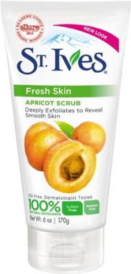 St. Ives Fresh Skin Apricot Scrub, 6oz Scrub(170 g) at flipkart