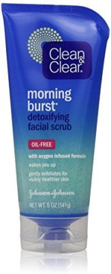 Clean & Clear Morning Burst Oil Free Detoxifying Facial Scrub - 141g